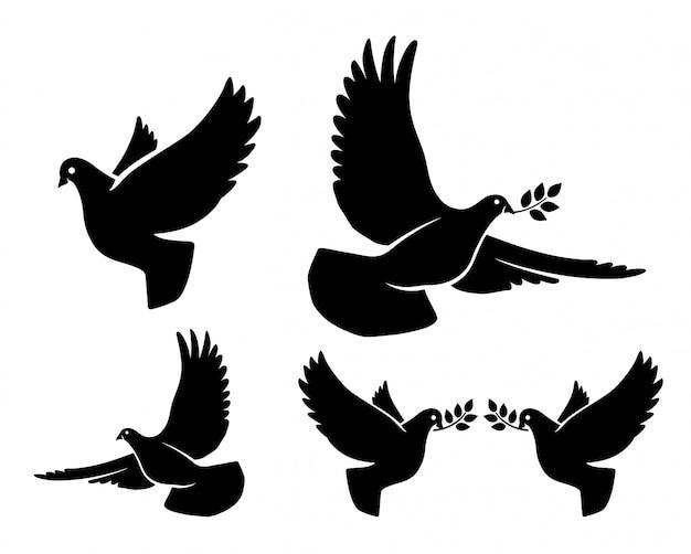 鳩のシルエット