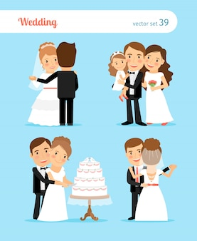 結婚式招待状の新郎新婦のキャラクター