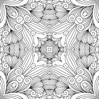 Декоративный вихревой узор дзен