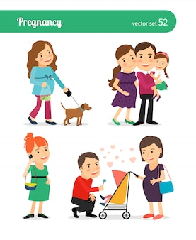 Рождение ребенка в счастливой семье