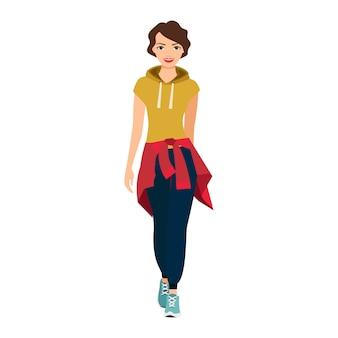 スポーツ服の女の子