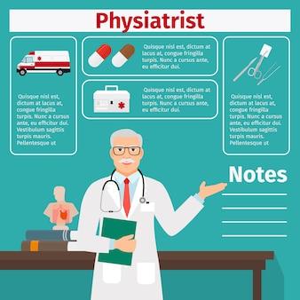 理学療法士および医療機器のテンプレート