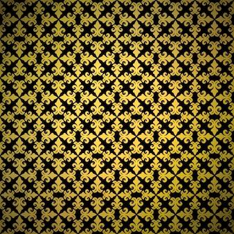 豪華な金色の背景飾りとのシームレスなパターン