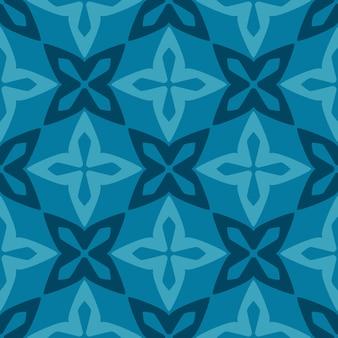 Бесшовный синий керамический орнамент из марокканской плитки