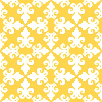 Бесшовные модели желтая французская декоративная керамическая плитка