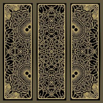 茶色の落書きと垂直パターン