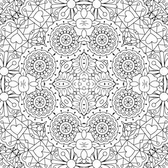 Каракули орнамент с цветами