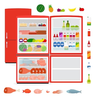 Холодильник с едой