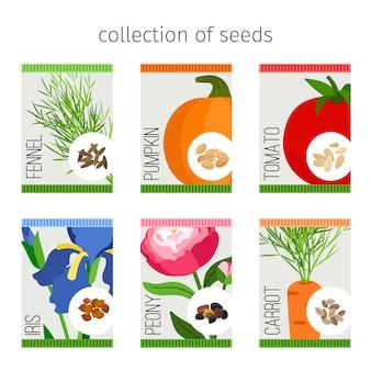 Сбор семян в упаковке