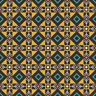 民族のシームレスパターン。疑似アフリカの工芸品エスニックパターン