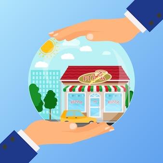 ピザレストランを開くためのビジネスコンセプト