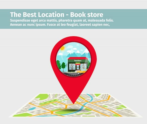 Лучшее расположение книжного магазина