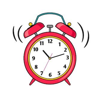 漫画の鳴っている目覚まし時計