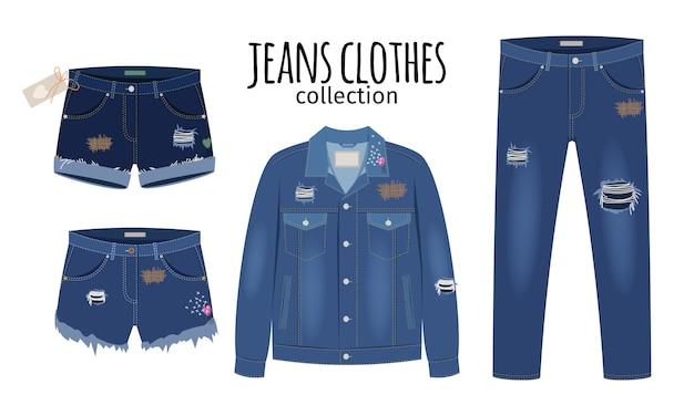 Модная рваная джинсовая повседневная одежда