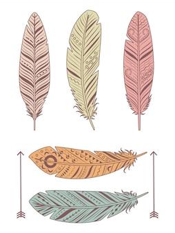 手描きの羽