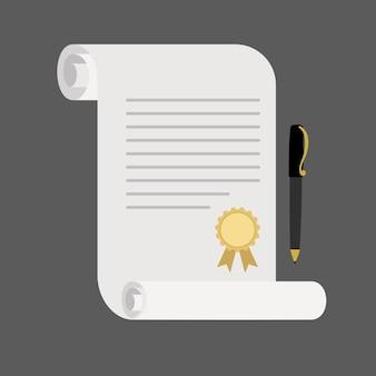 Винтажный свиток документа