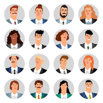 Мультяшный бизнес аватары