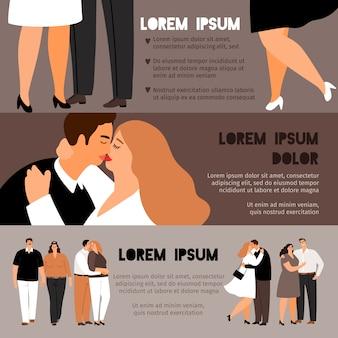 Полные пары в любовных баннерах