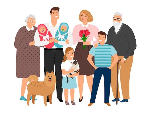 大家族のポートレート