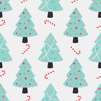 Рождественская елка бесшовные модели