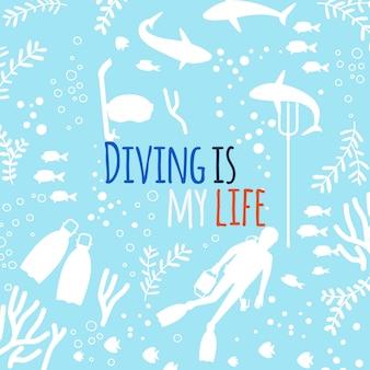ダイビングは私の人生の背景です