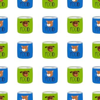 猫と犬のパターンのために食べ物を保存する