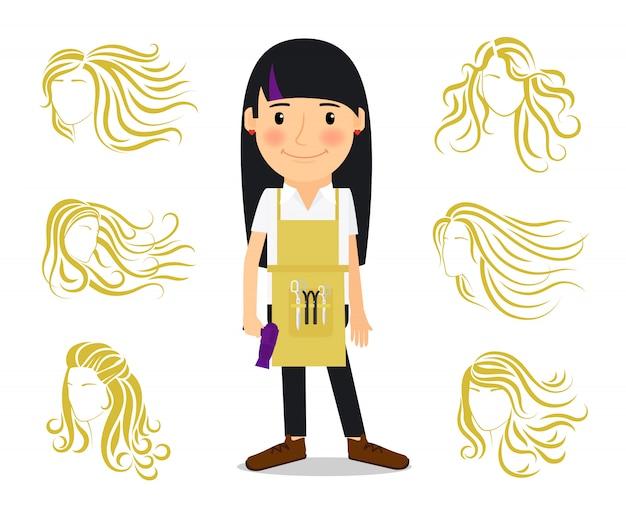 美容院と女性のヘアスタイル