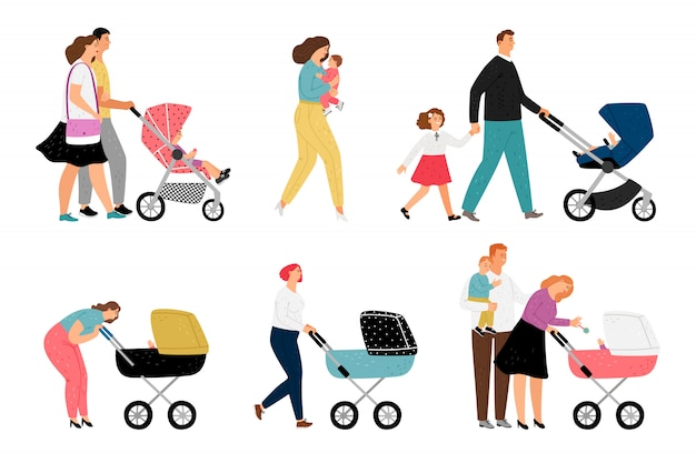 Родители с детьми персонажей