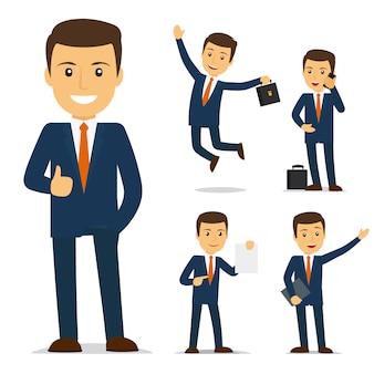ビジネスマンの漫画のキャラクター