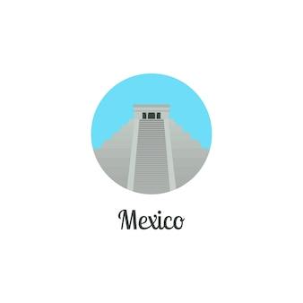 Мексика ориентир изолированные круглый значок