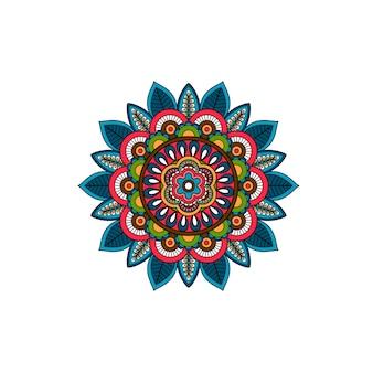 装飾的な部族の曼荼羅飾りロゼット