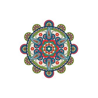 Декоративная розетка с орнаментом мандалы