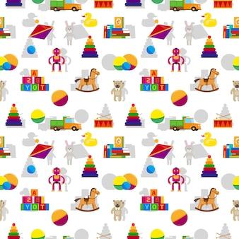 子供のおもちゃのシームレスパターン