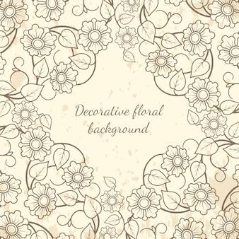 Декоративный цветочный фон в винтажном стиле