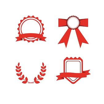 Набор красных наградных этикеток