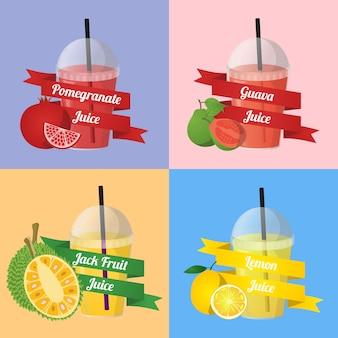 フルーツジュースベクトル