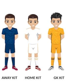 マドリードサッカーチームのサッカーサッカーキット