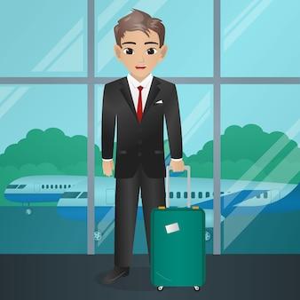 Стюард холдинг чемодан