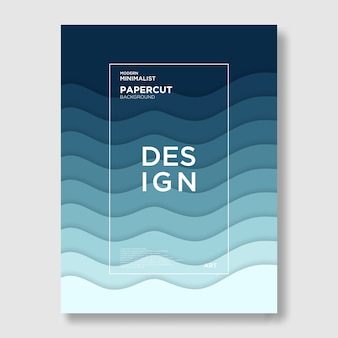 波、紙切れ、青、抽象、現代の背景