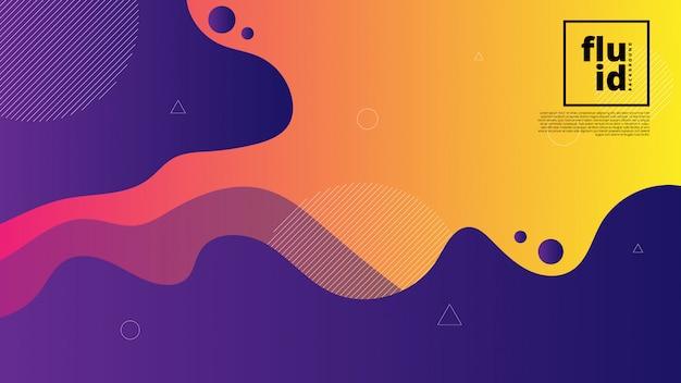 流体図形と抽象的な背景
