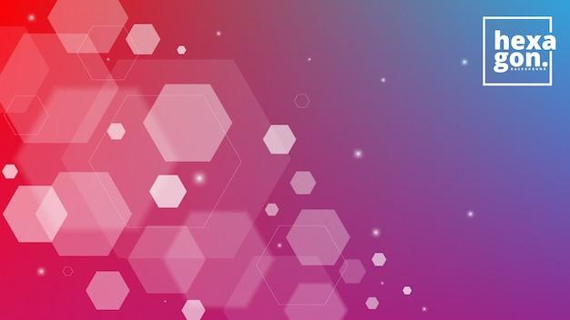 六角形の白い紫色の背景。幾何学的なスタイル。モザイクグリッド抽象的な六角形デザイン