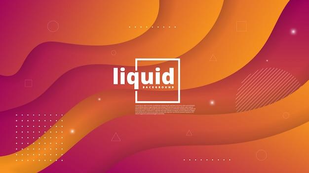 Абстрактный современный фон с жидкостью и жидким элементом