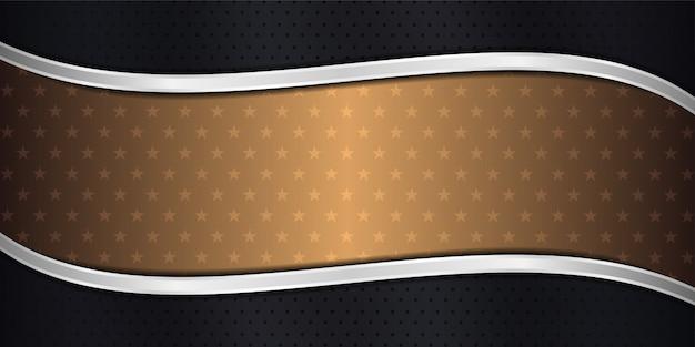 モダンで未来的な抽象的な豪華なオーバーラップレイヤーの背景