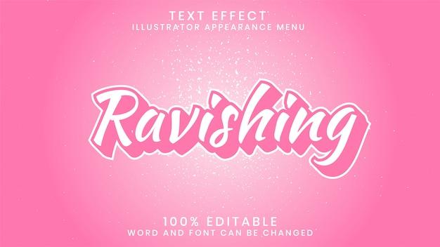 Восхитительный редактируемый текстовый шаблон стиля эффекта