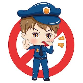 警官のキャラクター