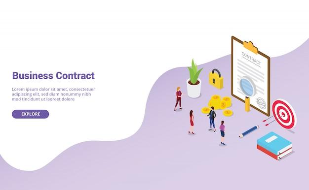 Деловой контракт с командой людей