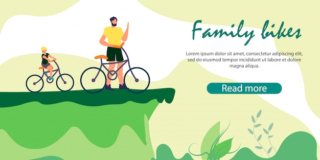 崖の端に立っている男と自転車の少年