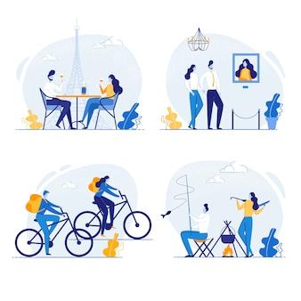 一緒に時間を過ごすカップル、旅行