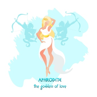 アフロディーテまたは愛と美の金星の女神