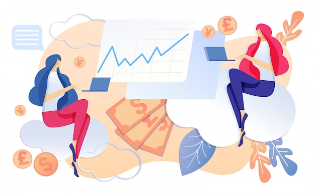 ビジネス会社の会計の女性はノートに取り組んで